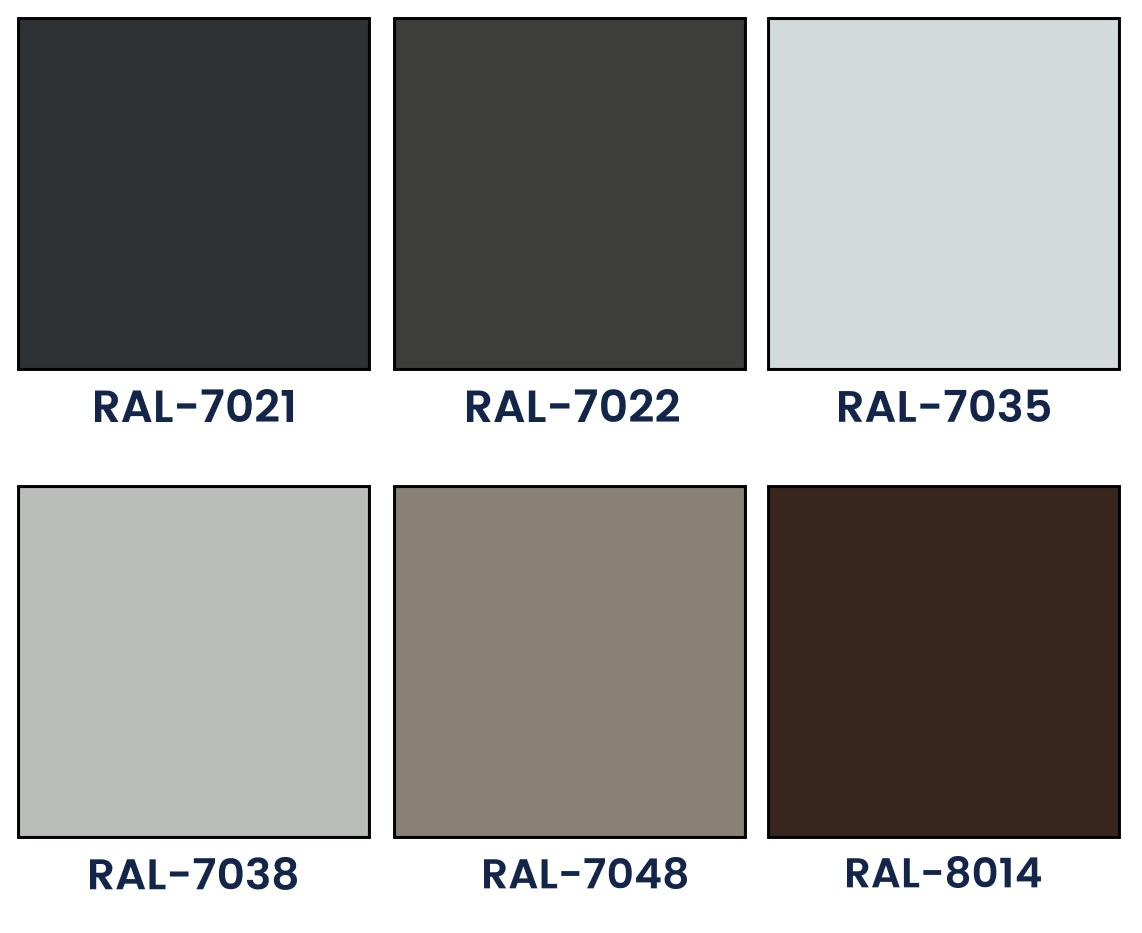 Basic colors of outdoor blinds