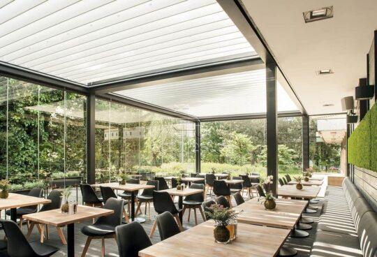 Bioklimaticheskaya Solid pergola restoran otelya