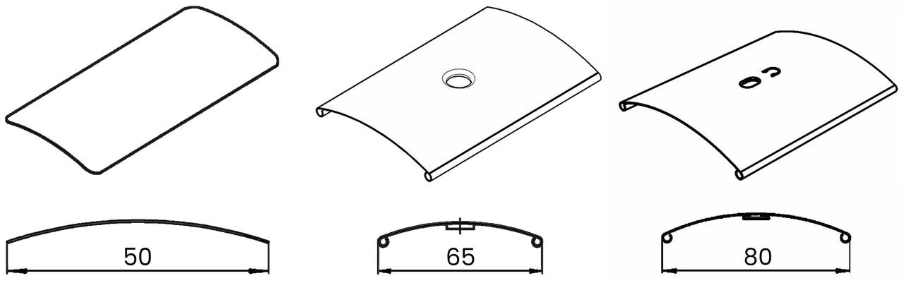 C shape lamellae for blinds