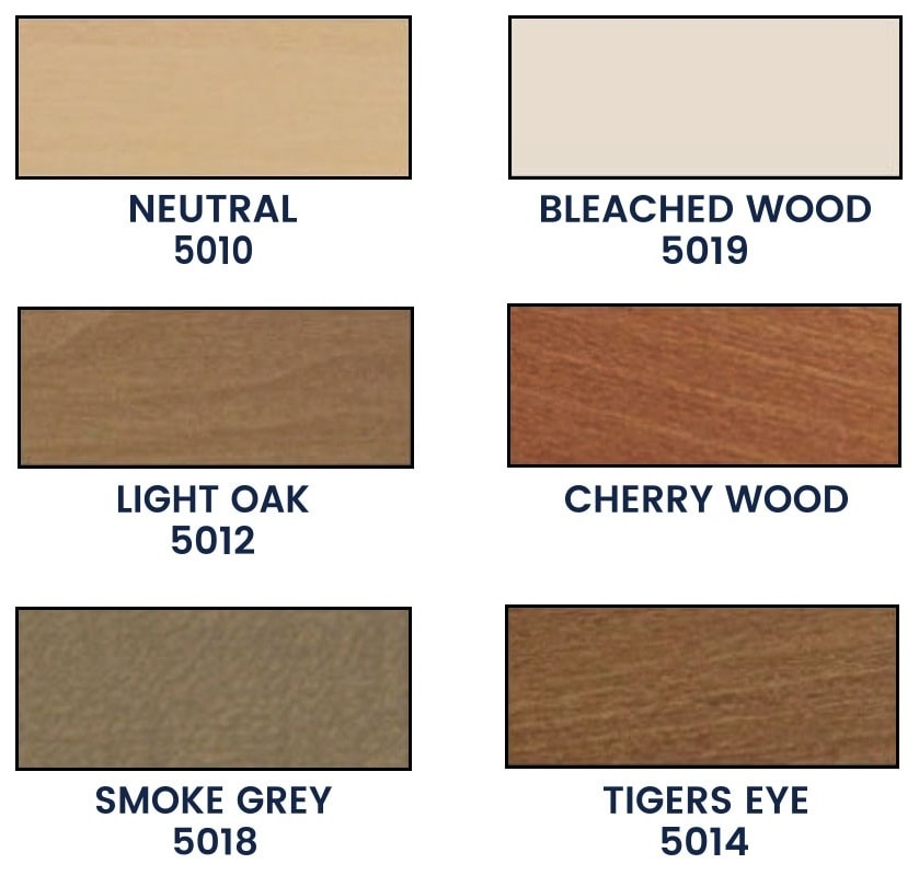 Colors of wooden blinds