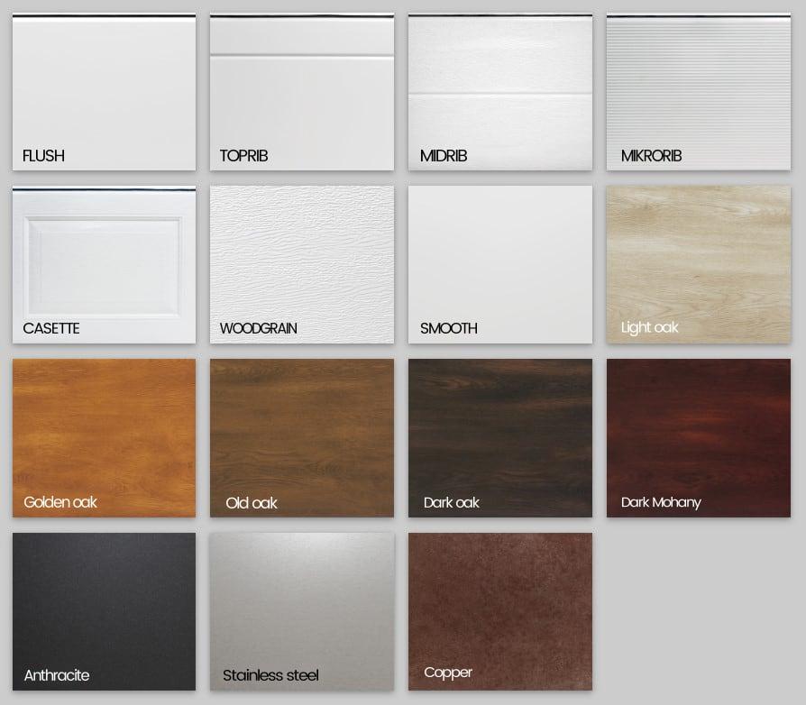 Industrial garage doors colors