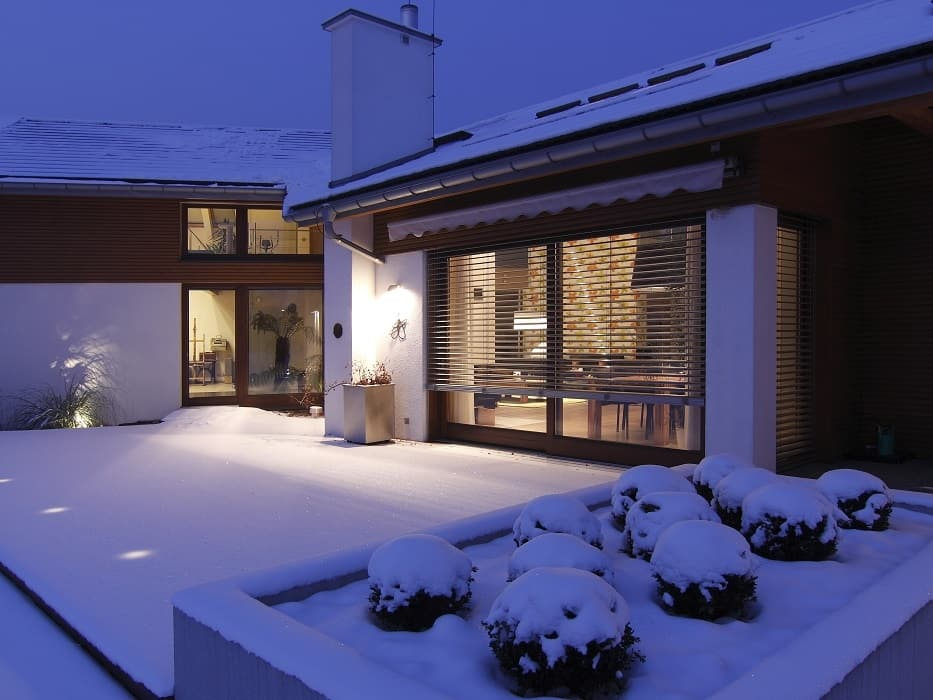 Jamaica awning during winter home