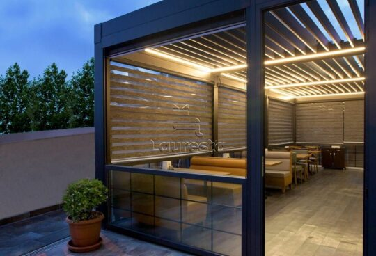Lapene Aerolux majas pagalma LED apgaismojums