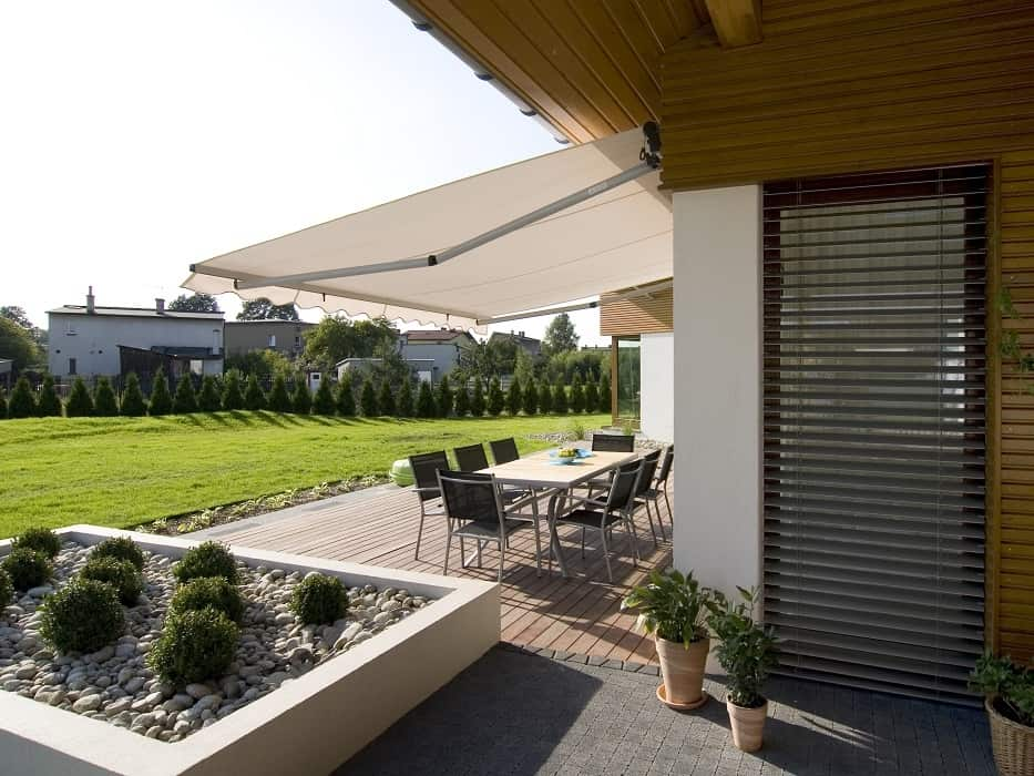 Outdoor awning terrace private home
