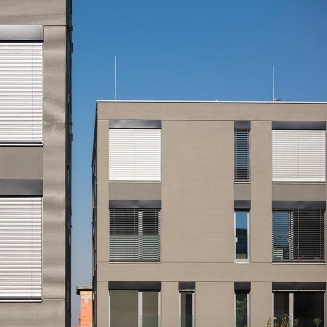Outdoor blinds window exterior
