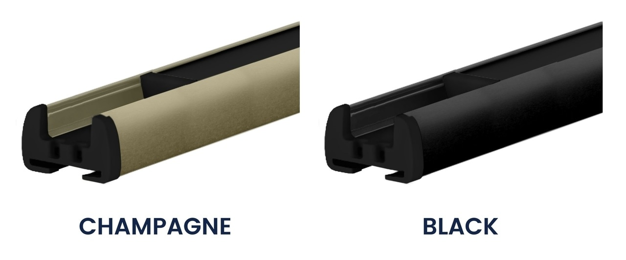 Pleated blinds black profile