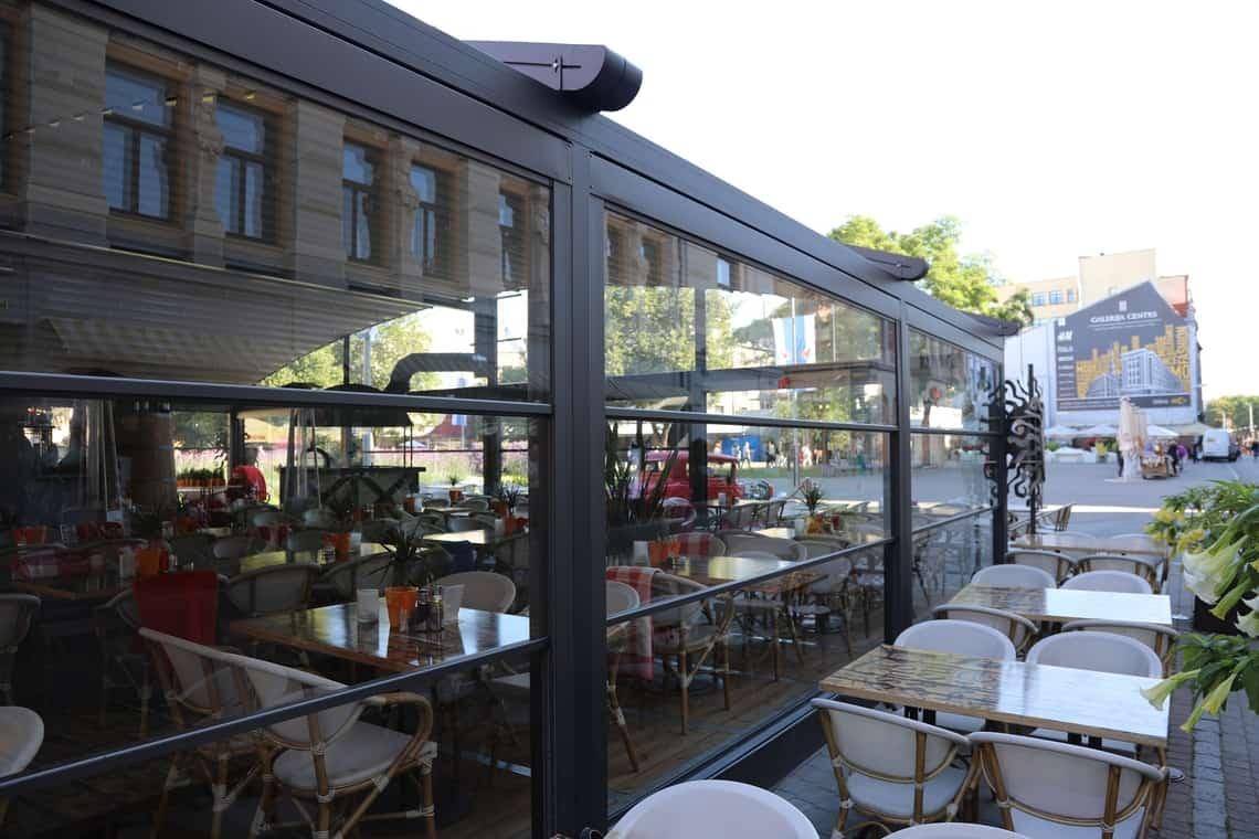 Restaurant traditional pergola Riga outdoor
