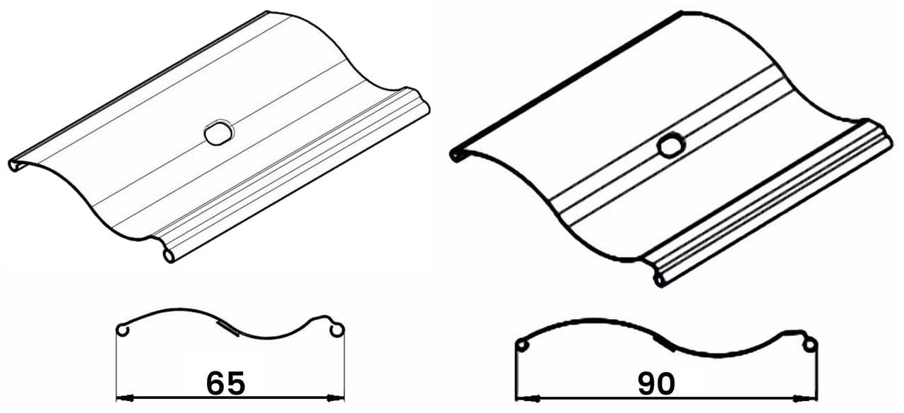 S shape outdoor blinds lamellae