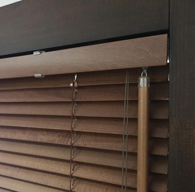 Standard wooden blinds mechanism