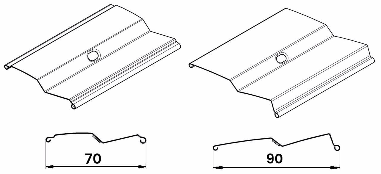 Z shape of outdoor blinds lamellae